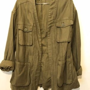 Free People Military Green Jacket Size XS